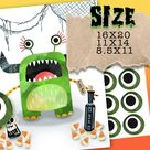 Halloween Game. Pin the eye on the monster Halloween party activity. Dawnload, Print and Play