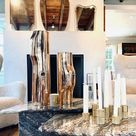 Brass Ribbed Lux Tea Light Set of 3 by Klaar Prims