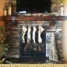 Fireplace Mantels with Metal Straps and Iron Accents part 1