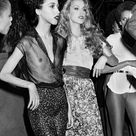 Jerry Hall and Pat Cleveland at Studio 54
