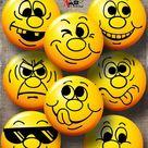 Smileys Emoji Digital Collage Sheets Printable Downloads for Bottle Caps Cabochons Scrapbooking 1.5