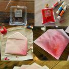 DIY Watercolor Spritzed Envelopes