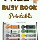 Free busy book printable for toddlers