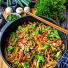 Asiapfanne mit Nudeln Huhn und Brokkoli   Rezepte   Kochrezepte   Kochen   Instakoch.de