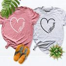 Custom Name Shirt, Custom Girlfriend Shirts, Best Friend Shirt, Personalized Roommate Shirt, Wife Hubs Shirt, Wedding Shirt, Sibling Outfit