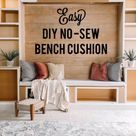 DIY No- Sew Bench Cushion - Living with Lady