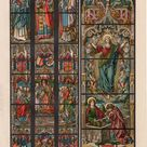 1894 Stained Glass Antique Print Glassmalerei Glass   Etsy