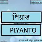 পিয়ান্ত নামের অর্থ কি    Piyanto name meaning in Bengali   COMILLAIT