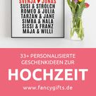 37 personalisierte Geschenke zur Hochzeit | fancy gifts