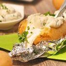 Ofenkartoffel mit Schnittlauchsauce
