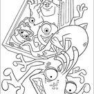 Ausmalbilder zum Ausdrucken Die Monster AG - Uni 48