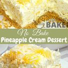 No  Bake Pineapple Cream Dessert