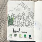 25+ Amazing Green Bullet journal theme layouts!   My Inner Creative