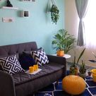 Our Small Living Room - Blue & Yellow Living Room Decor