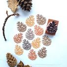 Pine cone rubber stamp, fall decor, autumn stamps, christmas stamp, winter wedding decor, nature art
