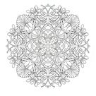 Mandalas Adult Coloring Pages -Transformation Themed set of 10