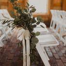 Pew Decor Wedding Greenery