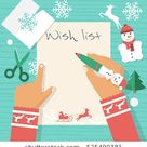 Child Table Writing Letter Santa Claus Stock Vector (Royalty Free) 525490381
