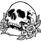 Vintage Black Rose Outline/Line Art/Logo/Decal/Vector/Floral/Cricut/Cut File/Instant Download/Sticker/Tattoo Design/EPS/PNG/Clipart/svg file