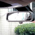 Car interior rearview mirror frame decorative cover trim 3D sticker For BMW 2 Series Active Tourer F45 Gran Tourer F46 2015 2016