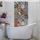 Fliesenaufkleber für Bad - 21 kreative Ideen zur Erfrischung - Badezimmer, Deko & Feiern - ZENIDEEN