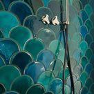 Fischschuppen Fliesen als einzigartigen Akzent für Wand & Boden nutzen