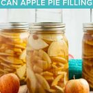 Canning Apple Pie Filling {Low Sugar}