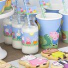 Peppa Pig party set   Printable   Kit   Digital download   PDF   Standard printing size   Bundle   English & Spanish