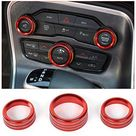 Voodonala for Challenger Charger Air Conditioner Switch CD Button Knob for Dodge Challenger Charger 2015-2019 - Red