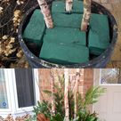 24 Colorful Outdoor Planters for Winter &Christmas Decorations