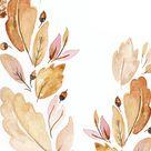 September Digital Watercolor Wallpaper