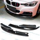 2PCS Painted Carbon Look Front Bumper Lip Kit For 12 18 BMW 3 Series M Sport M Tech F30 F35 320i 340i 328i 325i M Tech / M Sport Model Only