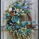 Stormy Seas X-Large Coastal Wreath Blue teal turquoise   Etsy