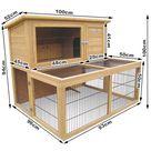 i.Pet Rabbit Hutch Chicken Coop 96cm x 96cm x 100cm