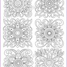 Coloring page zentangle flowers printable for adults PDF   Etsy