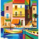 Art Print: Nathan-Garamond's Visitez (Visit) La Cote D'Azur - France -