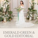Emerald Green and Gold Editorial at Park Chateau Estate