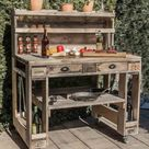 Pallet furniture: Grill table