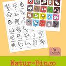 Natur Bingo für Kinder Druckvorlagen und Spielideen