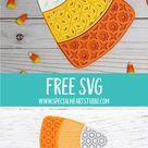 Free Layered Candy Corn SVG File   Halloween Cut File
