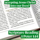 Scripture Reading  1 Peter 1:14