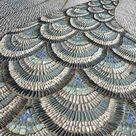 Gartenwege aus Kieselsteinen - Interessante Mosaik Ideen