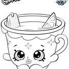 Honey Lemon Teacup Shopkins Coloring Pages Printable