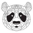 → Mandala de Oso Panda para Imprimir y Colorear en PDF y JPG
