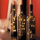 Lighted Wine Bottles