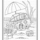 Seashell Fairy House Printable Coloring Page - Color with Steph