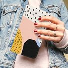 LEATHER WALLET Phone Case - Animal Dots Pastel iPhone Wallet Case - Samsung Protective Cover - Leather Flip Case for iPhone X XR 12 11 Pro