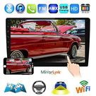Podofo Android Double Din GPS Car Stereo Radio 10.1'' HD 1080P 2.5D Tempered Glass Mirror Car MP5 Player with Bluetooth WiFi GPS FM - 10.1 inch 1G+16G+AM Radio