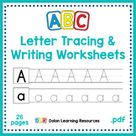 ABC Letter Tracing and Writing Worksheets