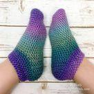 Crochet Cotton Candy Slipper Socks - Free Pattern — Left in Knots